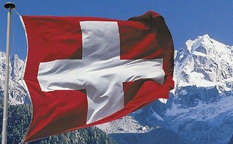 bandiera svizzera lavorare alle poste svizzere