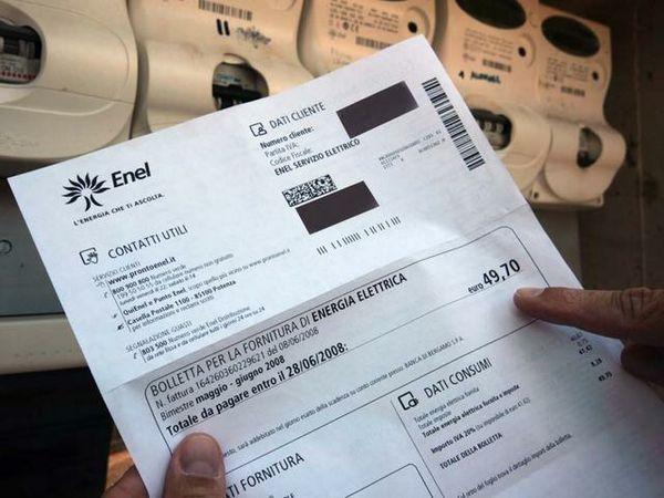 Bolletta enel se trovi questa scritta puoi avere un for Enel gas bolletta