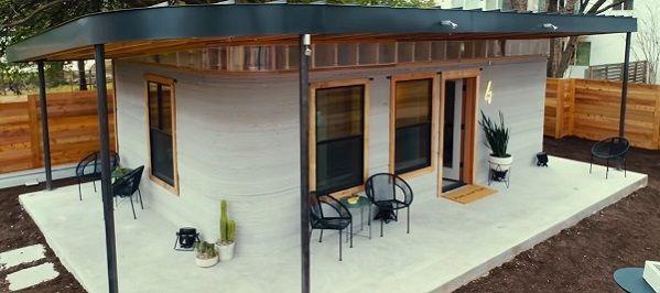 casa realizzata con stampante 3d