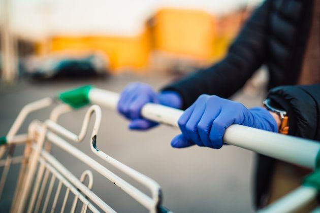 guanti supermercato